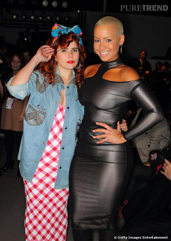 La Chanteuse Paloma Faith A Cote Du Top Amber Rose Au Defile Ashish