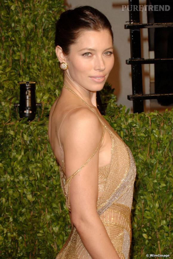 "Jessica Biel à la ""Vanity Fair Oscars Party"", à Hollywood."