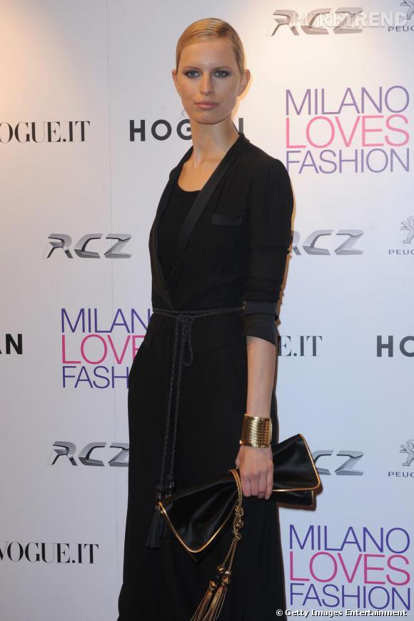 Karolina Kurkova assiste au concert et au dîner organisé par le groupe Duran Duran.