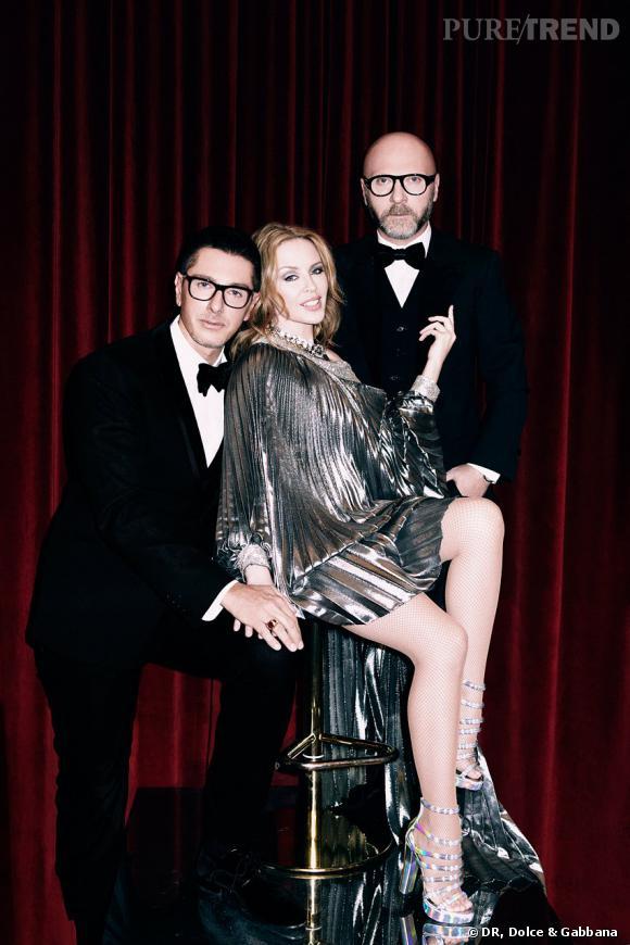 """Dolce & Gabbana pour la tournée """"Les Folies"""" de Kylie Minogue."""