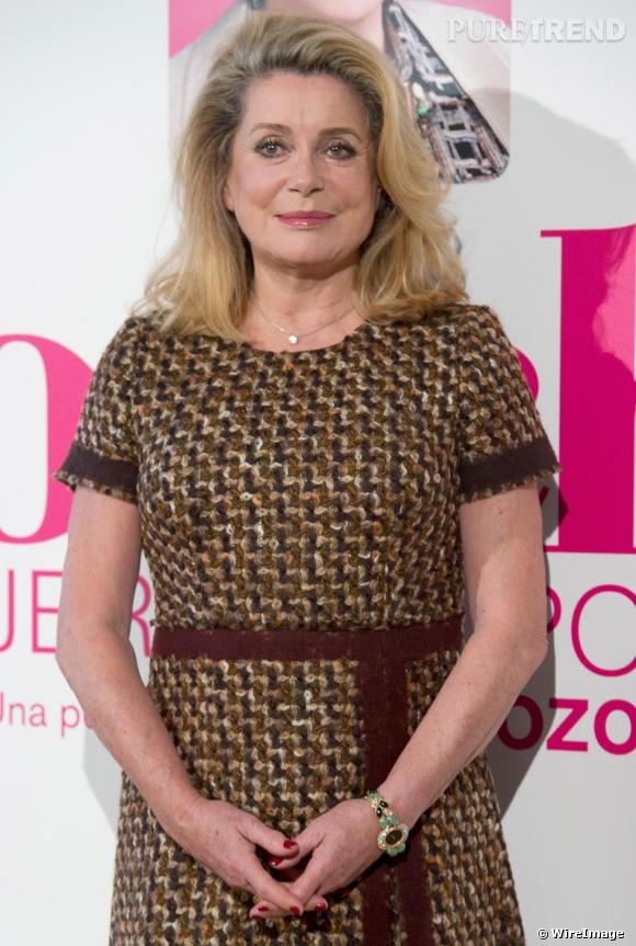 Catherine Deneuve au photocall de Potiche, à Madrid.