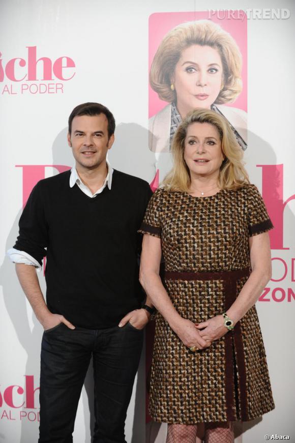 Catherine Deneuve et le réalisateur François Ozon.