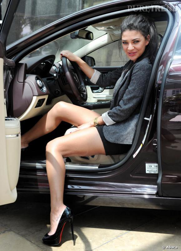 """Jessica Szohr à la """"Miami Jaguar XJ Driving Experience"""", en Floride."""