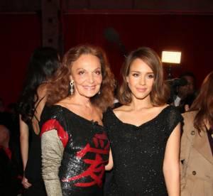 Jessica Alba, Natalia Vodianova au vernissage de l'exposition Diane von Furstenberg
