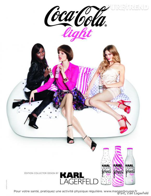 """Campagne publictaire """"Coca-Cola Light by Karl Lagerfeld""""."""