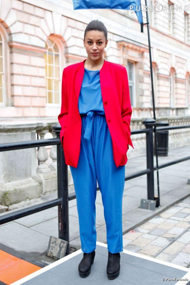 Combi bleu lectrique et veste rouge ou le remake du costume de wonder woman - Costume bleu electrique ...