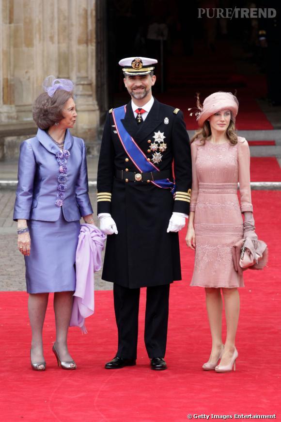 Letizia Ortiz au mariage de Kate Middleton et du prince William.