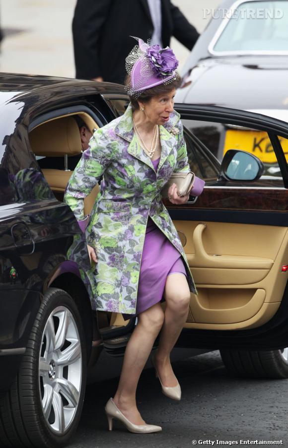 Pour la Princesse Anne, c'est râté, et visiblement elle s'en rend compte à peine arrivée à Westminster.