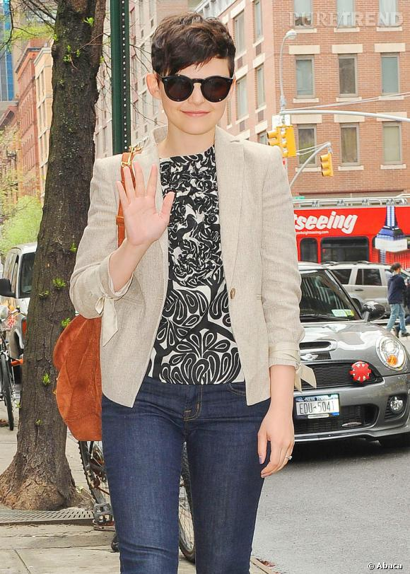 Ginnifer Goodwin dans les rues de New York.