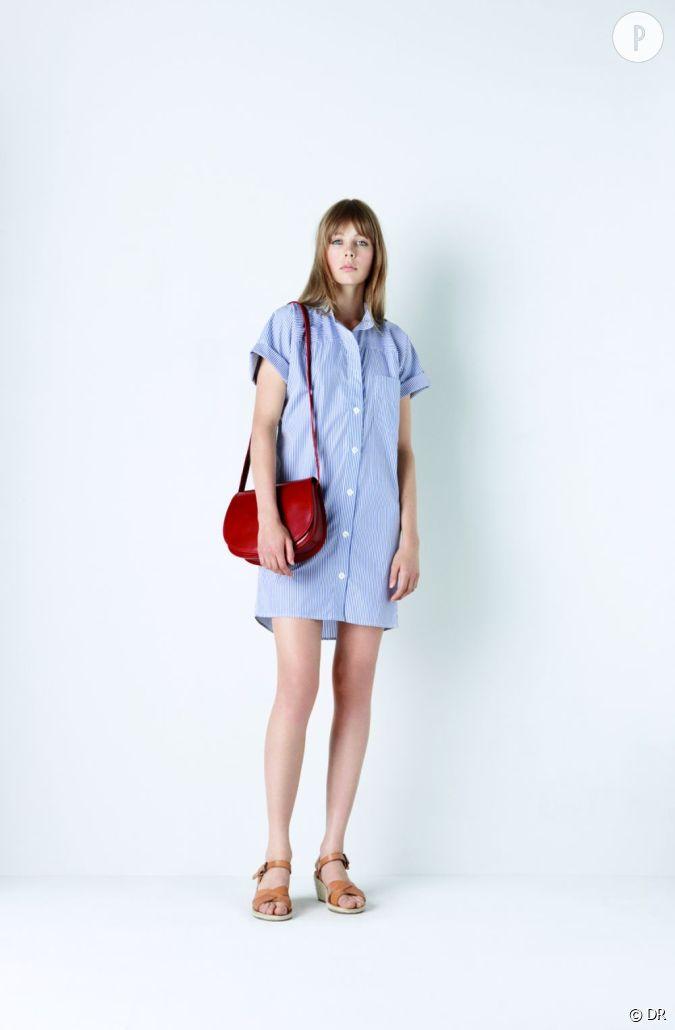 collection a p c printemps t 2011 robe chemise oversize. Black Bedroom Furniture Sets. Home Design Ideas