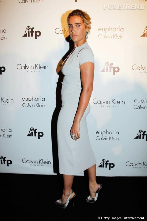 Vahina Giocante à la soirée Calvin Klein pendant le Festival de Cannes 2011.