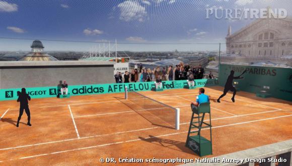 Roland Garros aux Galeries Lafayette Haussmann.