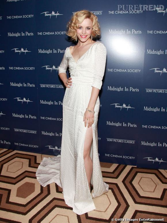 """Rachel McAdams, à New-York, pour l'avant-première de """"Midnight in Paris""""."""