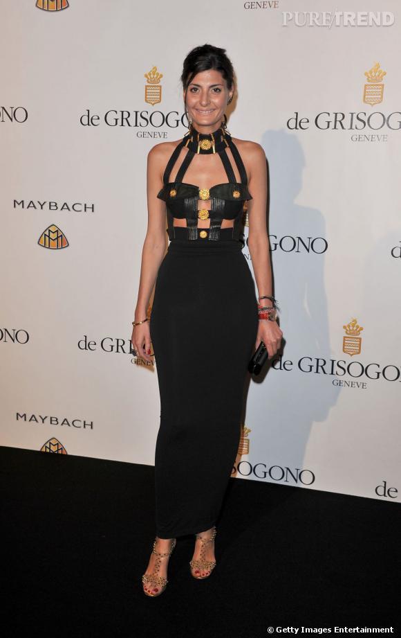 Giovanna Battaglia, à Cannes, pour le dîner de la maison de Grisogono.
