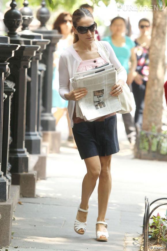 Sarah Jessica Parker, en toute décontraction dans les rues de New York.