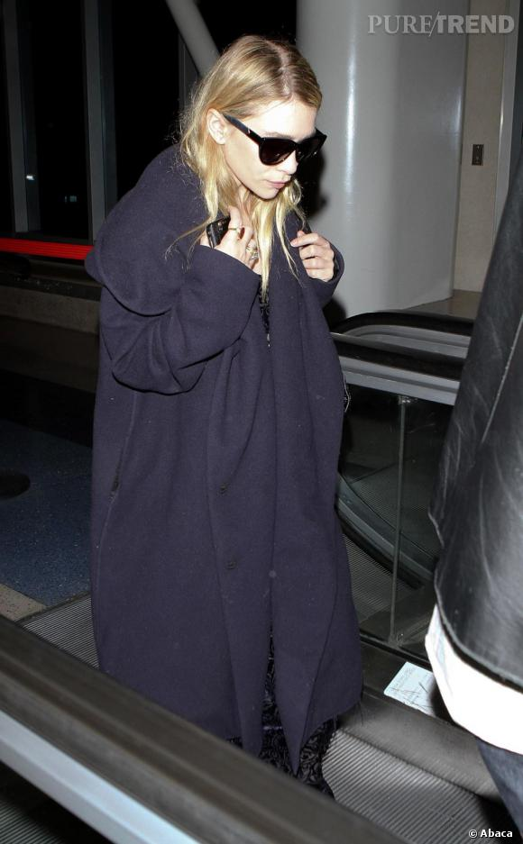 Ashley Olsen à l'aéroport de Los Angeles.