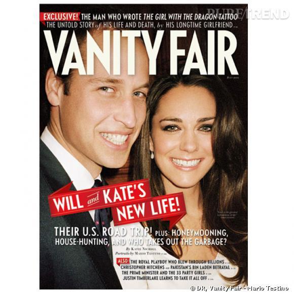 """Le prince William et Kate Middleton en couverture du nouveau """"Vanity Fair""""."""