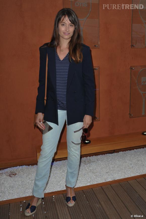 Marie Gillain à Roland Garros.