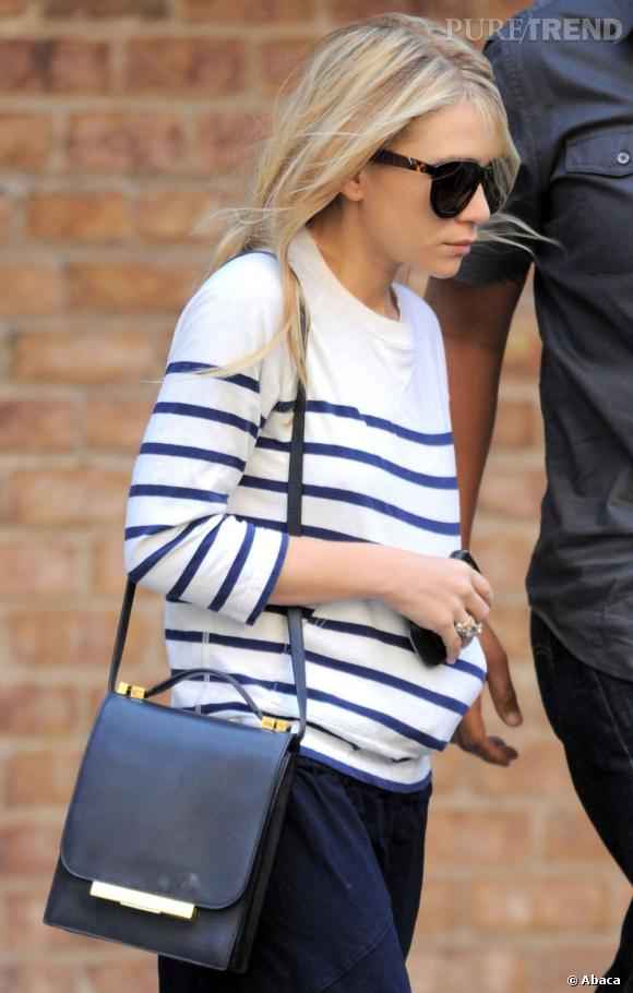 Ashley Olsen en balade dans les rues de New York.