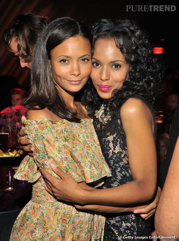 Thandie, accompagnée de Kerry Washington.