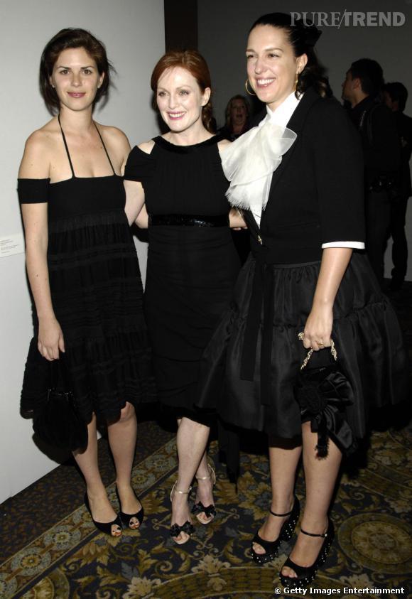 A gauche, Leslie Fremar,  qui conseille entre autre Julianne Moore, Reese Witherspoon et Charlize Theron.