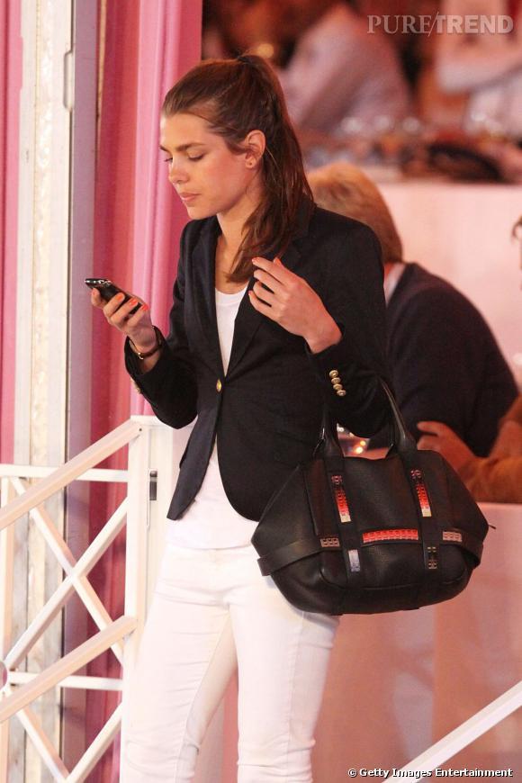 "Charlotte Casiraghi au ""Champion Gala Tour"", à Cannes."