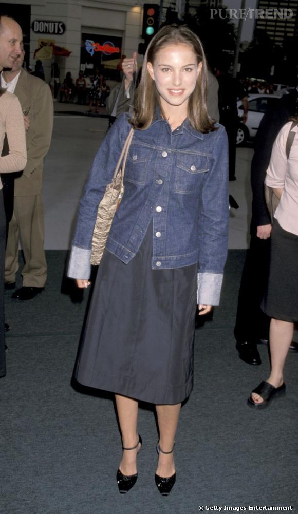 Natalie Portman à 17 ans, un look d'adolescente sage.