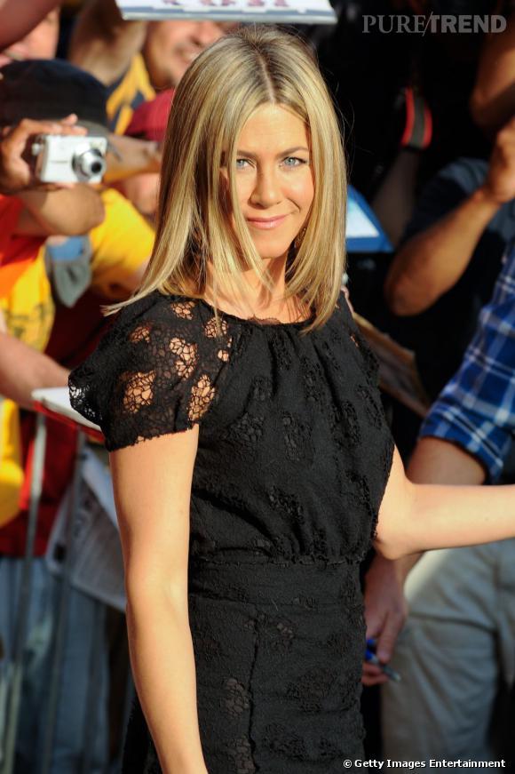 Jennifer Aniston conviée à l'émission Daily Show à New York.