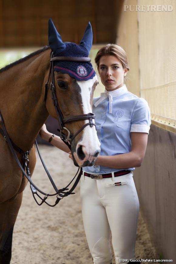 Nouvelle collection équestre Gucci dédiée à Charlotte Casiraghi.