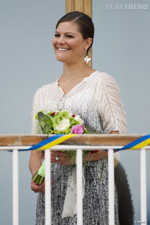 Princesse Victoria en apparition publique dans son pays : la Suède.