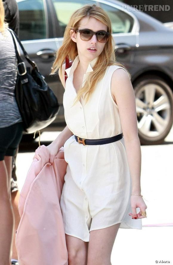 Emma Roberts, dans les rues de Beverly Hills, lors d'une séance shopping.