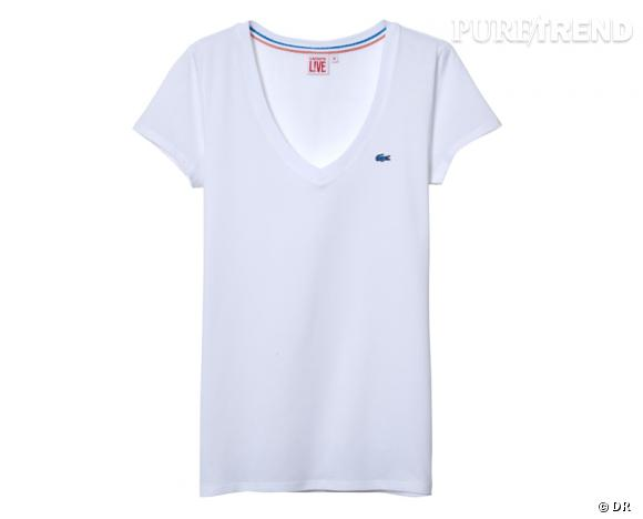 Must Have : Lacoste L!ve    T-shirt, 40 €.