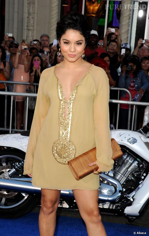 Vanessa Hudgens, son bémol à la première de Captain America à Los Angeles.