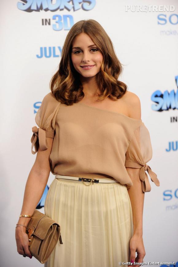 """Olivia Palermo à la première du film """"Les Schtroumps"""", à New York."""