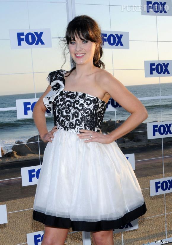 "Zooey Deschanel lors de la soirée ""Fox All Star 2011"" à Malibu."