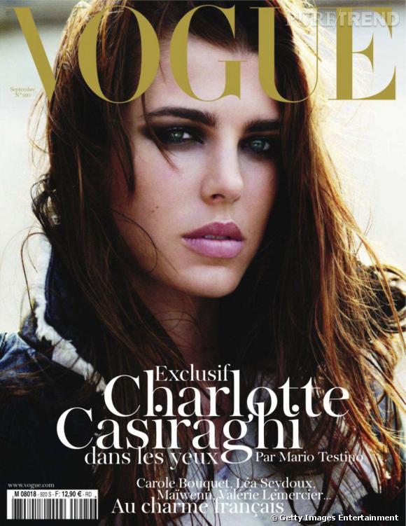 Charlotte Casiraghi shootée par Mario Testino pour le Vogue Paris de septembre 2011.
