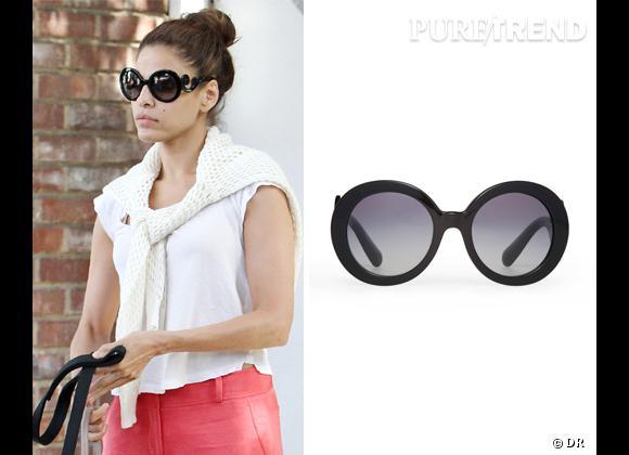 Les nouveaux must-have d'Eva Mendes : les lunettes de soleil Minimal Baroque griffées Prada !