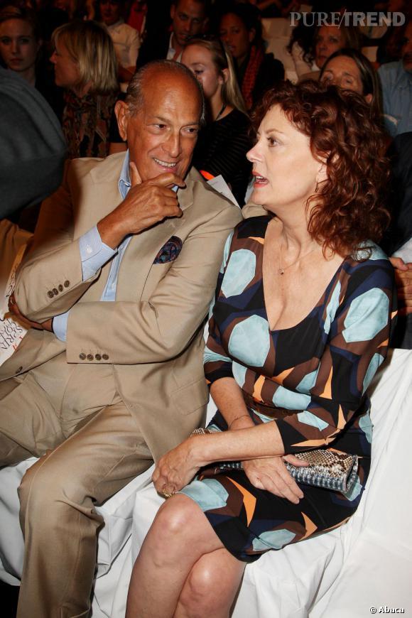 Oscar de la Renta et Susan Sarandon chez Diane Von Furstenberg.