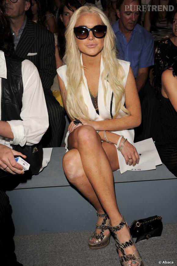 Lindsay Lohan au défilé Cynthia Rowley à New York.