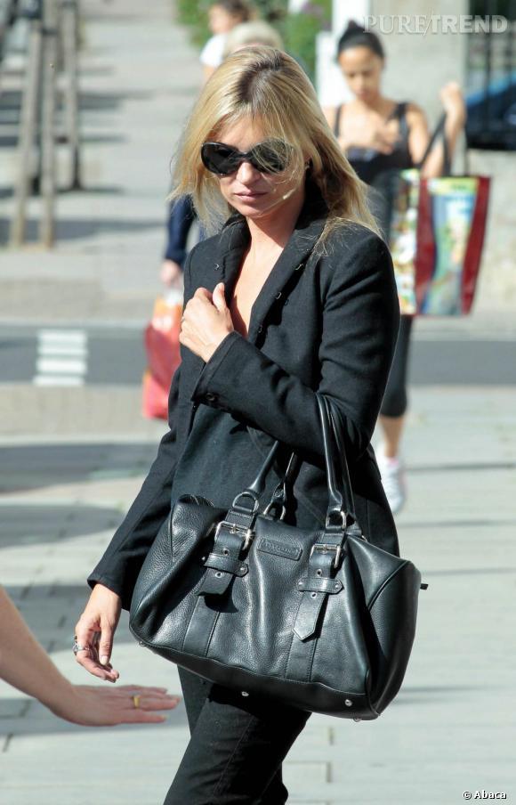 Kate Moss dans les rues de Londres.
