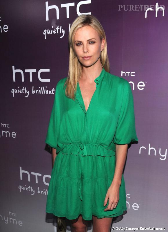 Charlize Theron à la soirée organisée par HTC à New York.
