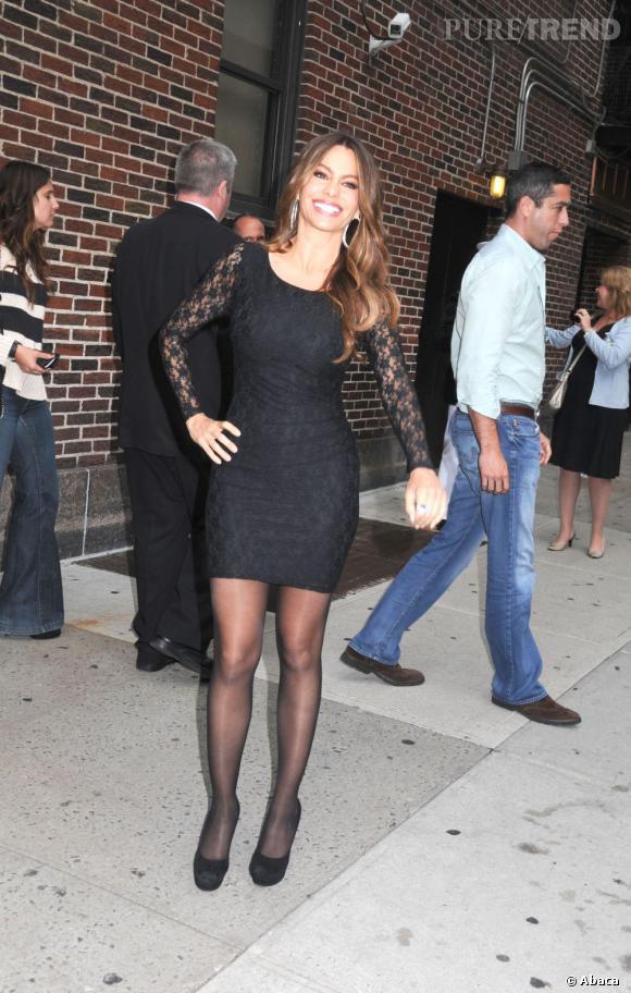 Sofia Vergara se rend à l'émission Late Show With David Letterman à New York.