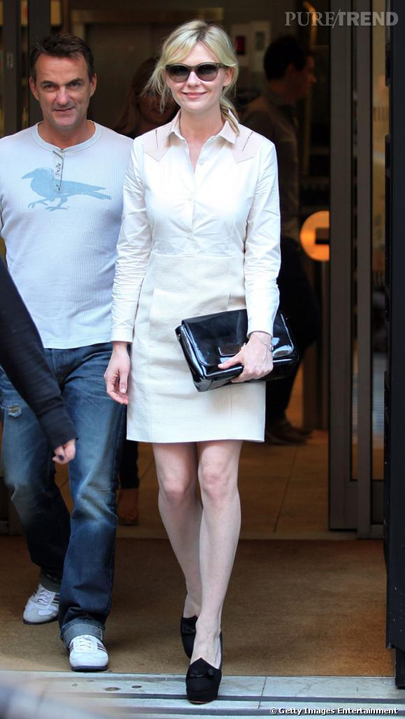 Kirsten Dunst dans les rues de Londres.