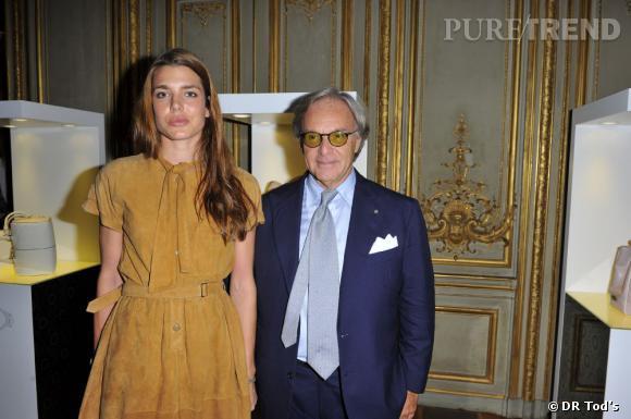 Charlotte Casiraghi au côté du propriétaire de Tod's Diego della Valle à Paris.