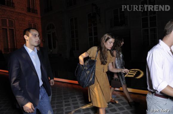 Charlotte Casiraghi et son petit ami Alex Dellal à la soirée Tod's.
