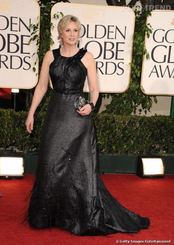 En 2011 :     Aux Golden Globes, Jane semble finalement maîtriser la robe de gala.