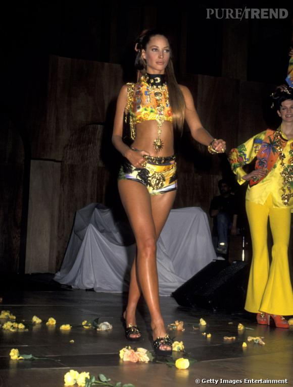 Membre de la bande des super tops, Christy Turlington a été le visage de Calvin Klein durant 10 ans. Entre-autres.