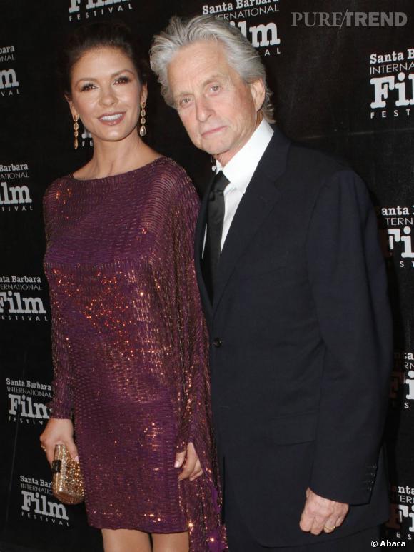 Catherine Zeta-Jones et Michael Douglas lors du Festival  International du Film de Santa Monica.