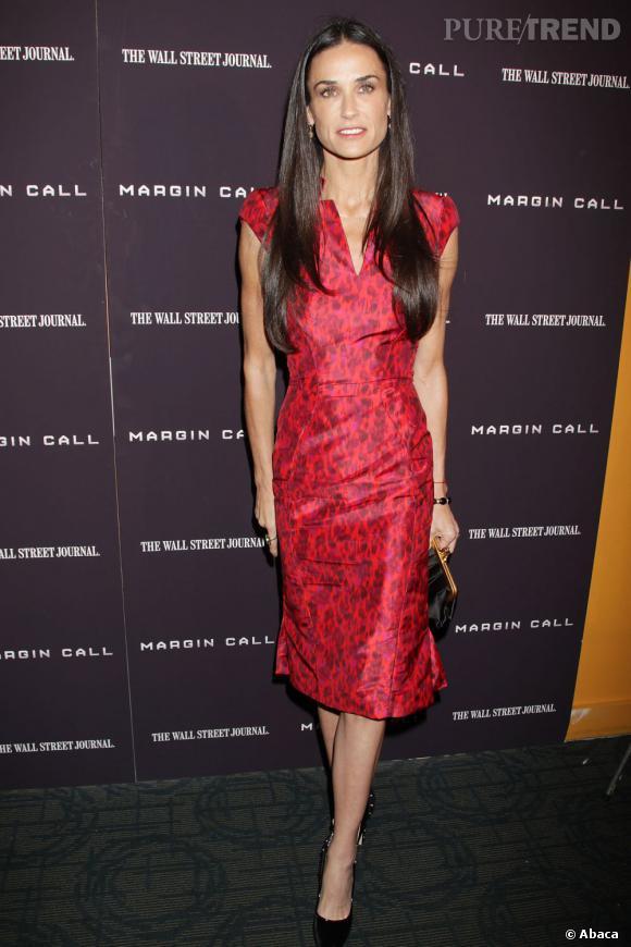 """Demi Moore à l'avant-première du film """"Margin Call"""" à New York."""