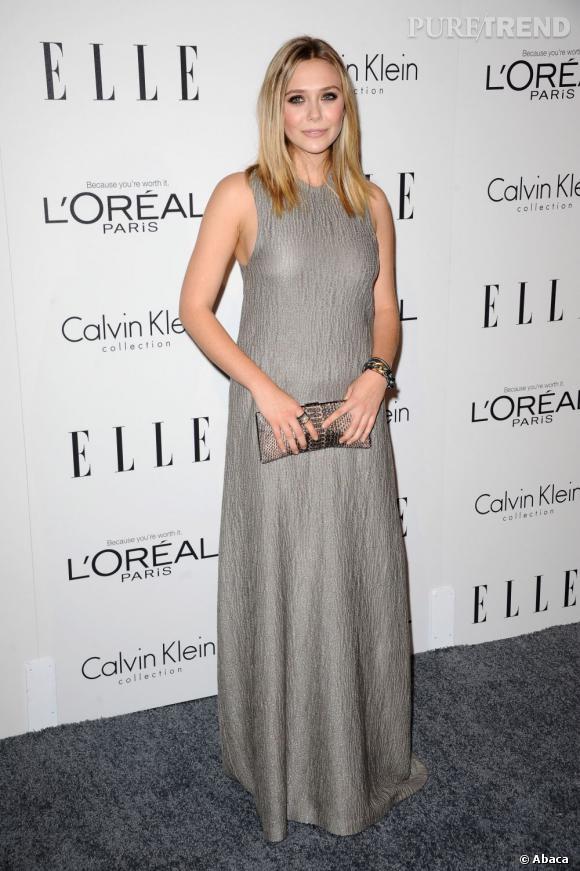 Elizabeth Olsen, véritable canon de beauté, peaufine son look grâce à ses bijoux David Yurman.